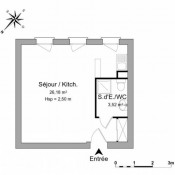 Courdimanche, Studio, 29,7 m2