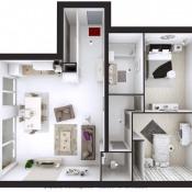Albertville, Appartement 3 pièces, 76,82 m2