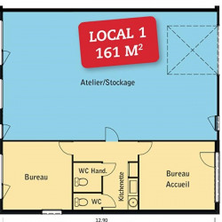 Location Local d'activités Montrabé 161 m²