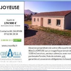Maison  4 pièces + Terrain  1100 m² Joyeuse