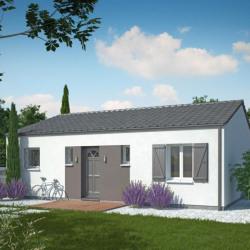 Maison  3 pièces + Terrain  600 m² Villegouge