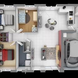Maison  5 pièces + Terrain  800 m² Saint-Laurent-Nouan