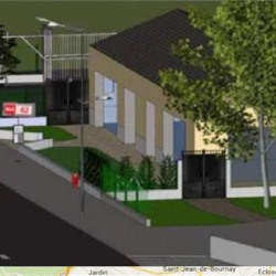 Location Local commercial Mions 150 m²