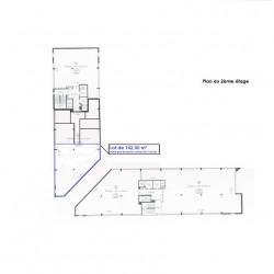 Location Bureau Gennevilliers 142 m²