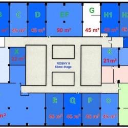 Location Bureau Rosny-sous-Bois 85 m²