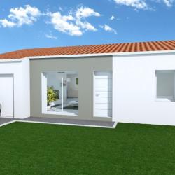 Maison  3 pièces + Terrain  700 m² Les Châtelliers-Châteaumur