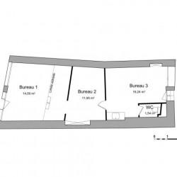 Location Local d'activités Vienne 43,82 m²