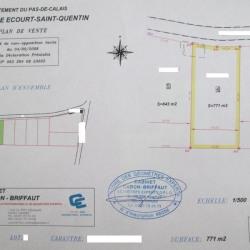 Vente Terrain Écourt-Saint-Quentin 771 m²