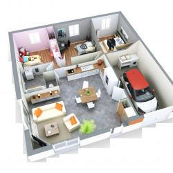 Maison  5 pièces + Terrain  1218 m² Magny Montarlot