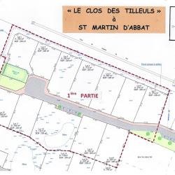 Terrain  de 545 m²  Saint-Martin-d'Abbat  (45110)