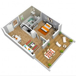 vente Appartement 3 pièces Miramas