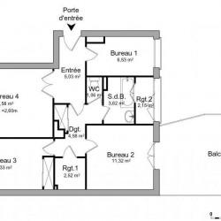 Location Bureau Boulogne-Billancourt 67 m²