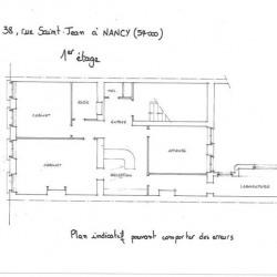 Location Bureau Nancy 110 m²