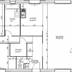 Maison  2 pièces + Terrain  660 m² Fénay
