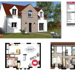 Terrain  de 662 m²  Le Perchay  (95450)