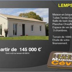 Maison  4 pièces + Terrain  1000 m² Lemps