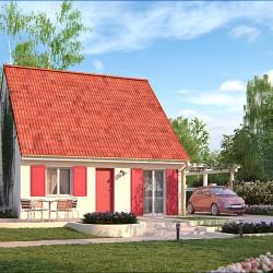 Maison  3 pièces + Terrain  1250 m² Moult