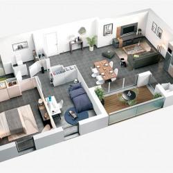 vente Appartement 3 pièces Colomiers