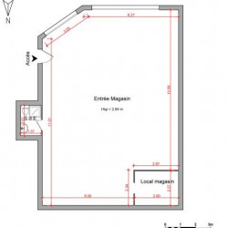 Location Local commercial Les Angles 110,95 m²