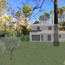 Terrain  de 2500 m²  Roquefort-les-Pins  (06330)