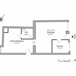 Location Local d'activités Vienne 53,63 m²