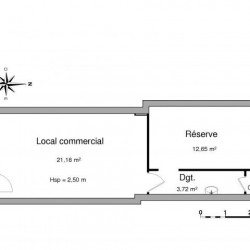 Location Local commercial Firminy 38,51 m²