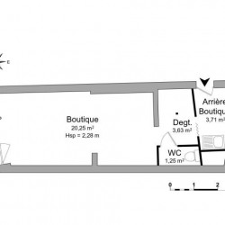 Location Local commercial Mantes-la-Jolie 28,8 m²