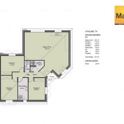 Maison  4 pièces + Terrain  1000 m² Salvagnac