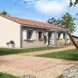 Maison  4 pièces + Terrain  1000 m² Pradons