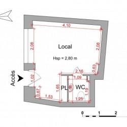 Location Local commercial Nice 17,65 m²
