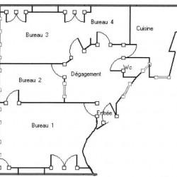 Location Bureau Lyon 2ème 65 m²