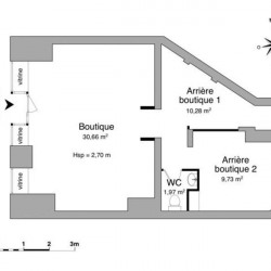 Location Local commercial Annemasse 52,64 m²