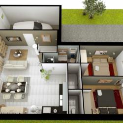 Maison  4 pièces + Terrain  550 m² Clessé