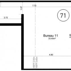 Vente Bureau Ifs 33 m²