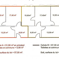 Location Bureau Limas 158 m²