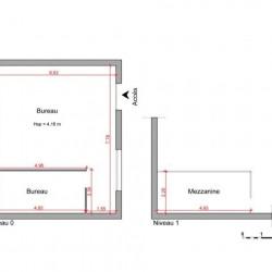Location Entrepôt Vienne 61,01 m²