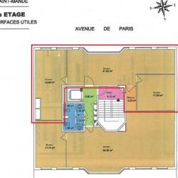 Location Bureau Saint-Mandé 95,34 m²
