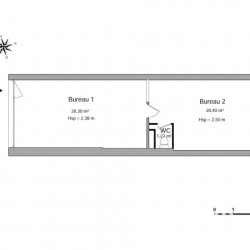 Location Local commercial Annemasse 47,97 m²