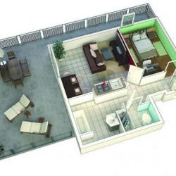 vente Appartement 3 pièces Mordelles