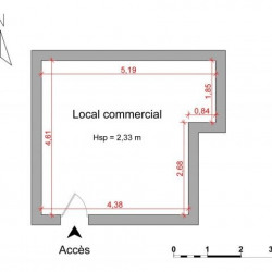 Location Local commercial Nice 21,74 m²