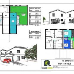 Maison  4 pièces + Terrain  172 m² Morancé (69480)