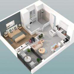 vente Appartement 2 pièces Oullins