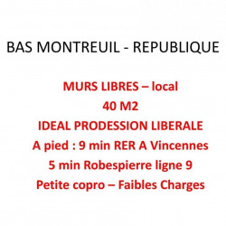 Vente Local commercial Montreuil 40 m²