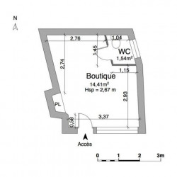 Location Local commercial Saint-Laurent-du-Var 15,95 m²