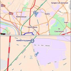 Location Entrepôt Stains 15273 m²