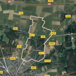 Terrain  de 526 m²  Rubelles  (77950)