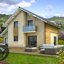 Maison  4 pièces + Terrain  485 m² Gilly-sur-Isère