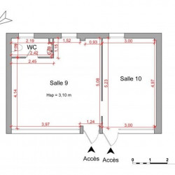 Location Local commercial Montpellier 43,14 m²