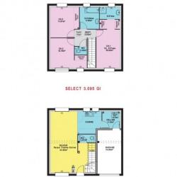 Maison  4 pièces + Terrain  674 m² Saint-Aubin-des-Bois