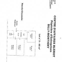 Location Bureau Billy-Montigny 65 m²